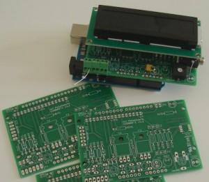 Quelques platines nues plus une montée sur une Arduino Uno